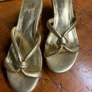 Great Condition Kate Spade Gold Sandals!